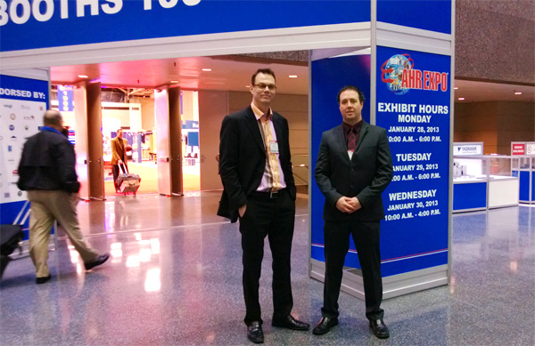 Martech's Marv Verlage and Glenn Votkin at AHR 2013 in Dallas.