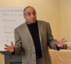 Balaji Krishnamurthy led a Seven Secrets to Successful Leadership session in Edmonton.