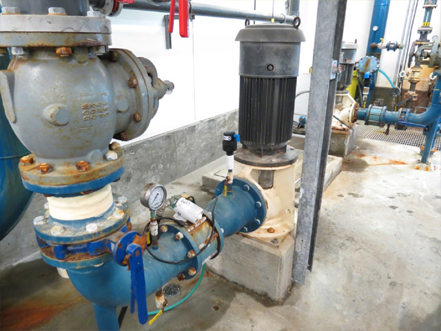 Second D-040 air valve installed in small town Saskatchewan pumphouse.
