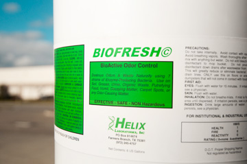 Helix Laboratories BioFresh is a biologically active cleaner available in 6 and 55 gallon pails.
