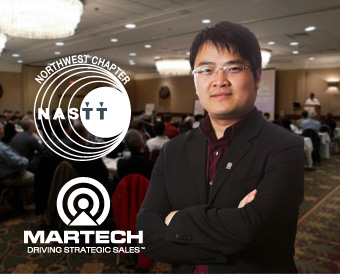 Photo: Martech's Infrastructure Sales Territory Architect Liang Yu at a lecture in this year's NASTT Trenchless Conference