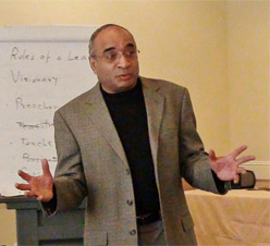 Balaji Krishnamurthy led a Seven Secrets to Successful Leadership session in Edmonton.