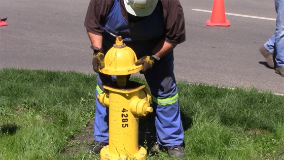 EJ fire hydrants are lightweight and easy for field operators to maintain.