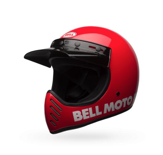 Moto-3 Helmet - Classic Red