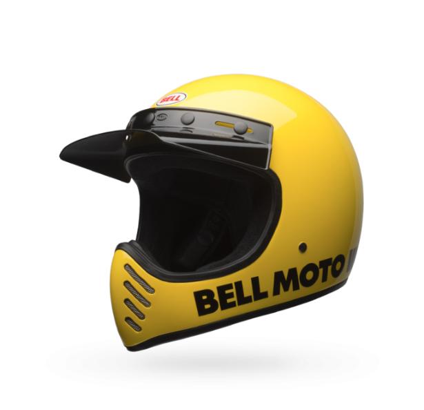 Moto-3 Helmet - Classic Yellow