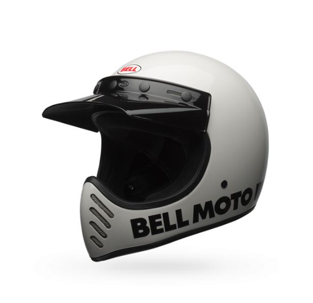 Moto-3 Helmet - Classic White