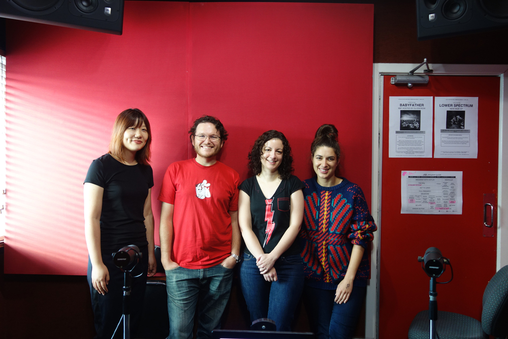 Rachel Quine, Christopher Markle, Danielle Briggs and presenter Caitlin Nienaber
