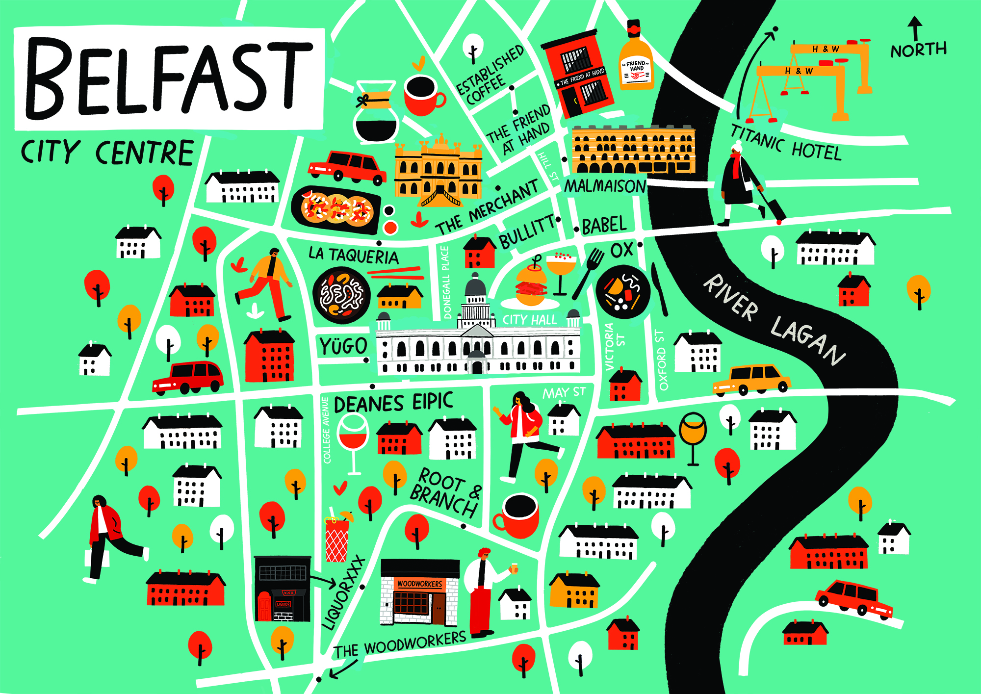 Maps — Fuchsia MacAree Belfast City Map on