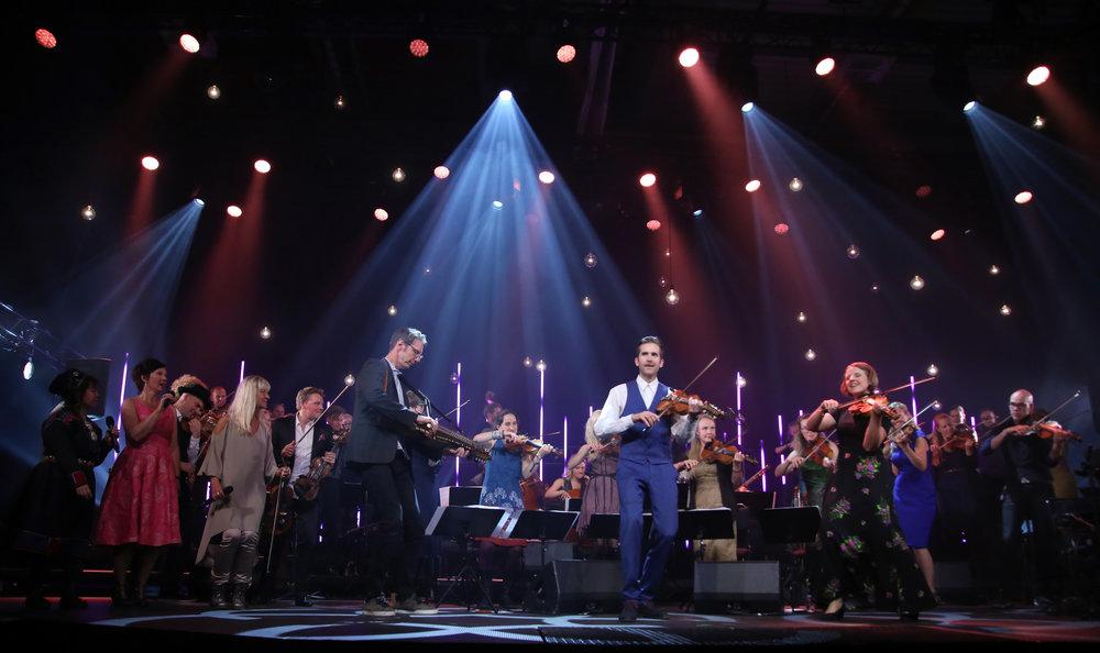 Olof Johansson, Olav Luksengård Mjelva, Jorun Marie Kvernberg all composed new music for the opening concert. Foto: Knut Utler