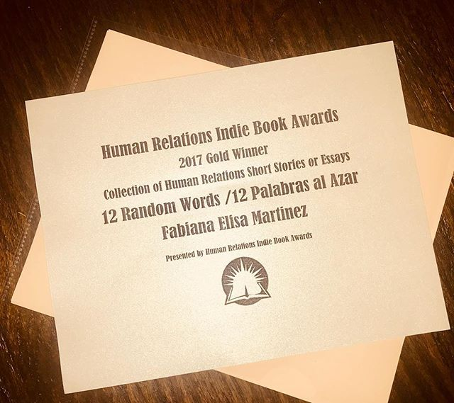 Is there a better way to celebrate this amazing year? 12 Random Words received one new award, its 8th! We are pleased, full of gratitude and new dreams. Thank you, dear readers, for your untiring support and trust. Happy holidays and happy, rich and loving 2018!  http://humanrelationsindiebookawards.com/results.php @readelysian #robwilsonwork #dallas #literature #literaryarts