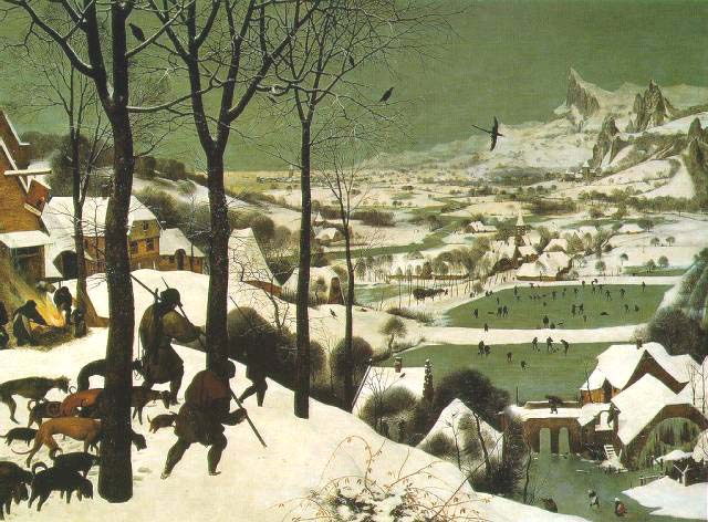 The Hunters in the Snow by Pieter Brueghel the Elder, 1565