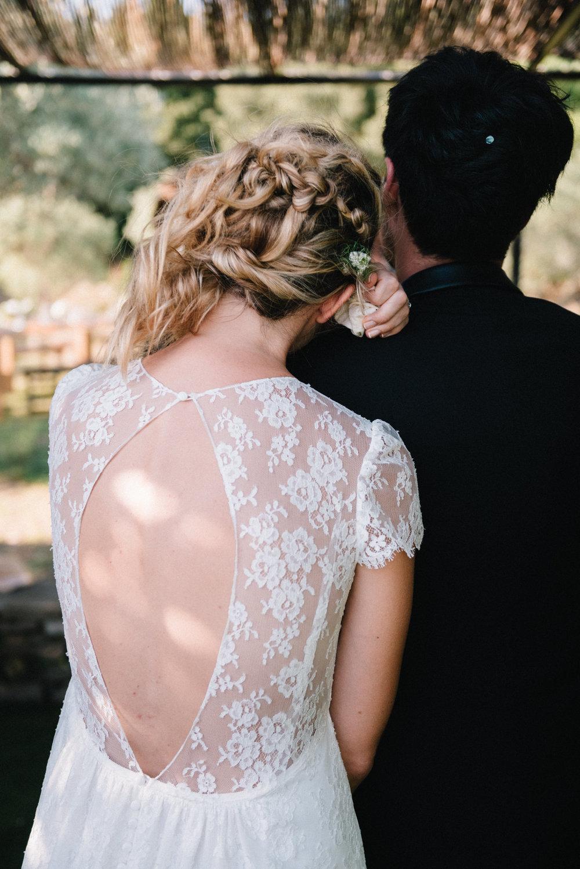 Chignon bas bohème mariage