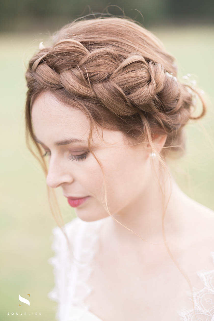 hair braids, coiffure de mariage