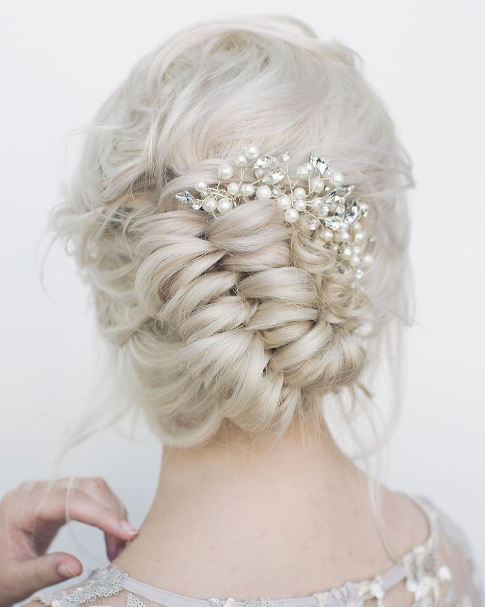 braid updo, wedding hair