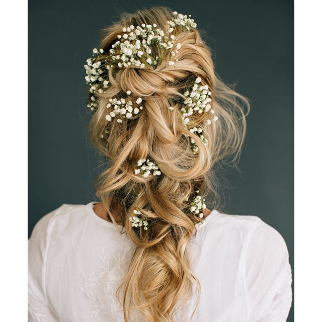 hair braids, wedding hair