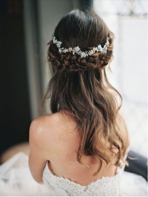 wedding hair, hair braids
