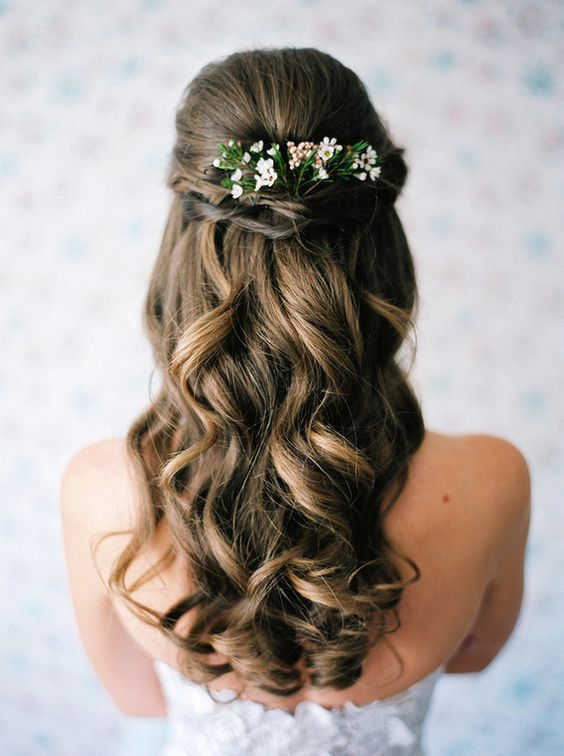 wedding hair, braids