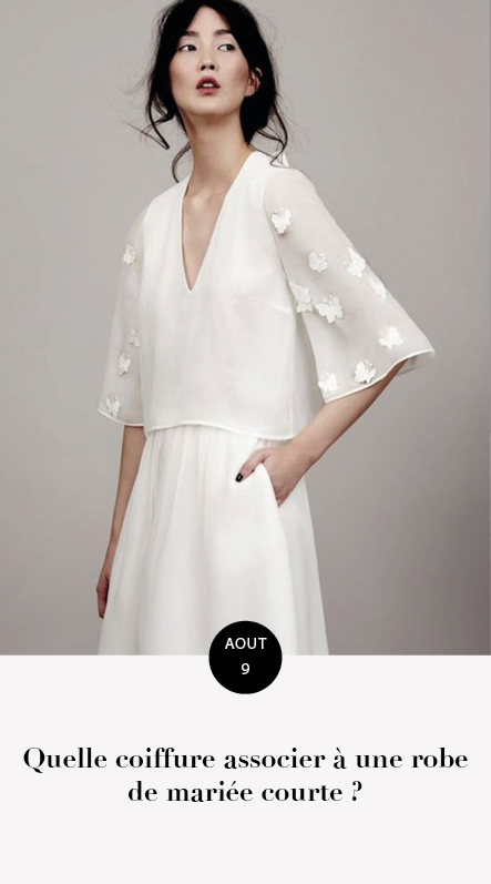 coiffure pour robe courte
