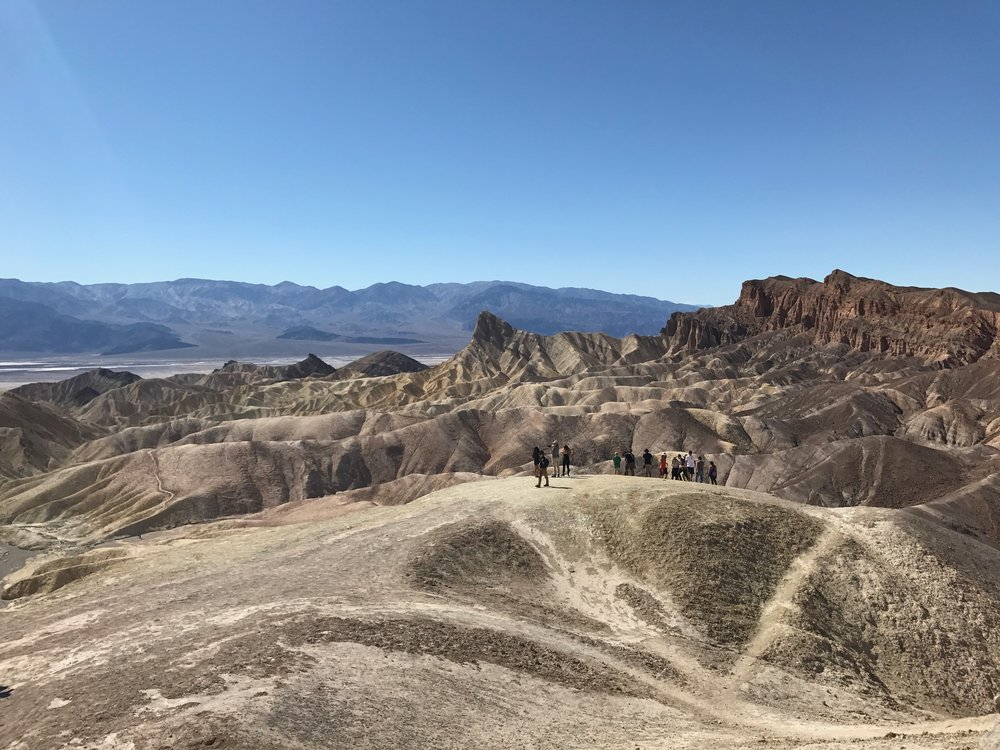 Hiking around Zabriskie Point