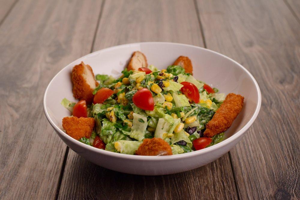 Kickin' Fried Chicken Salad