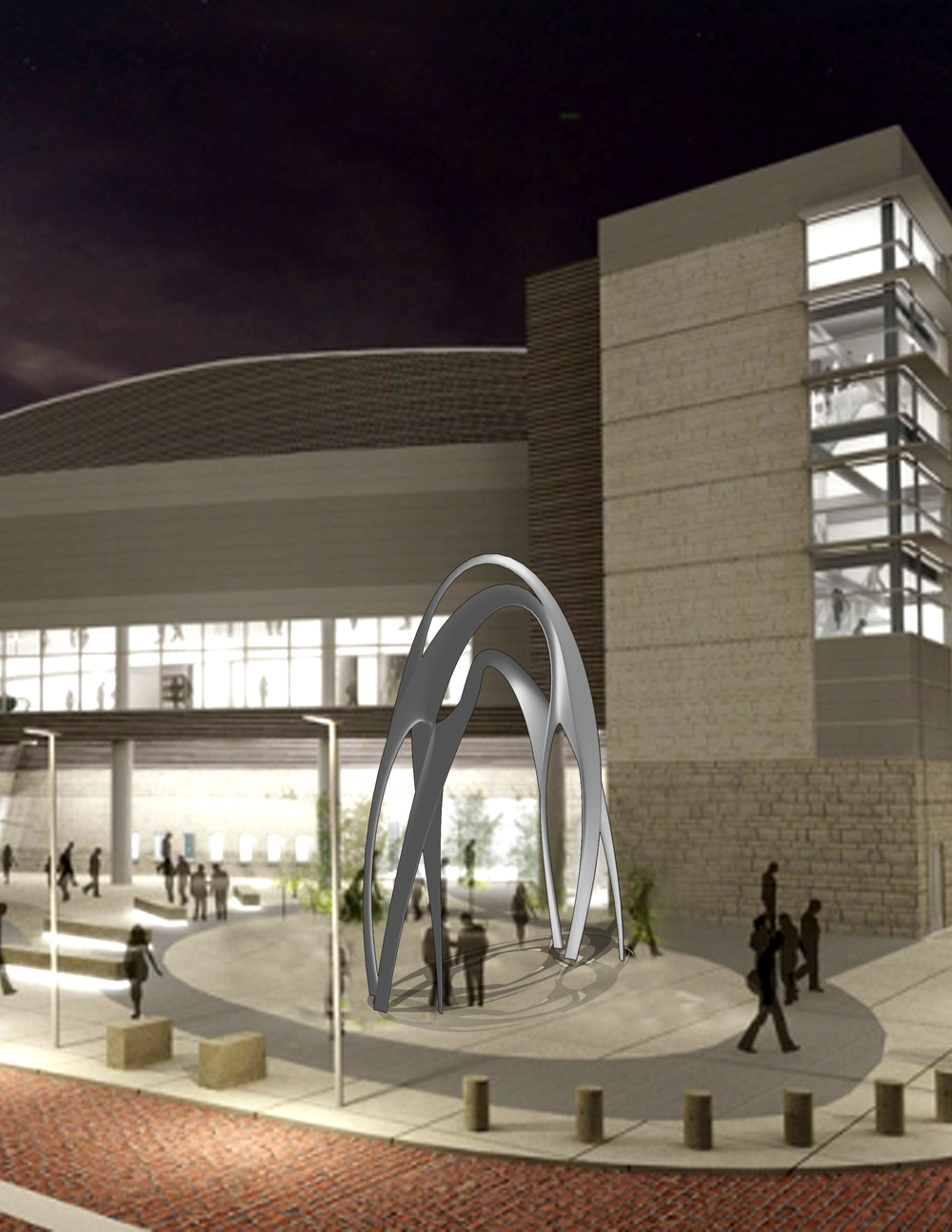 Evansville's Arena Art Project (Concept)