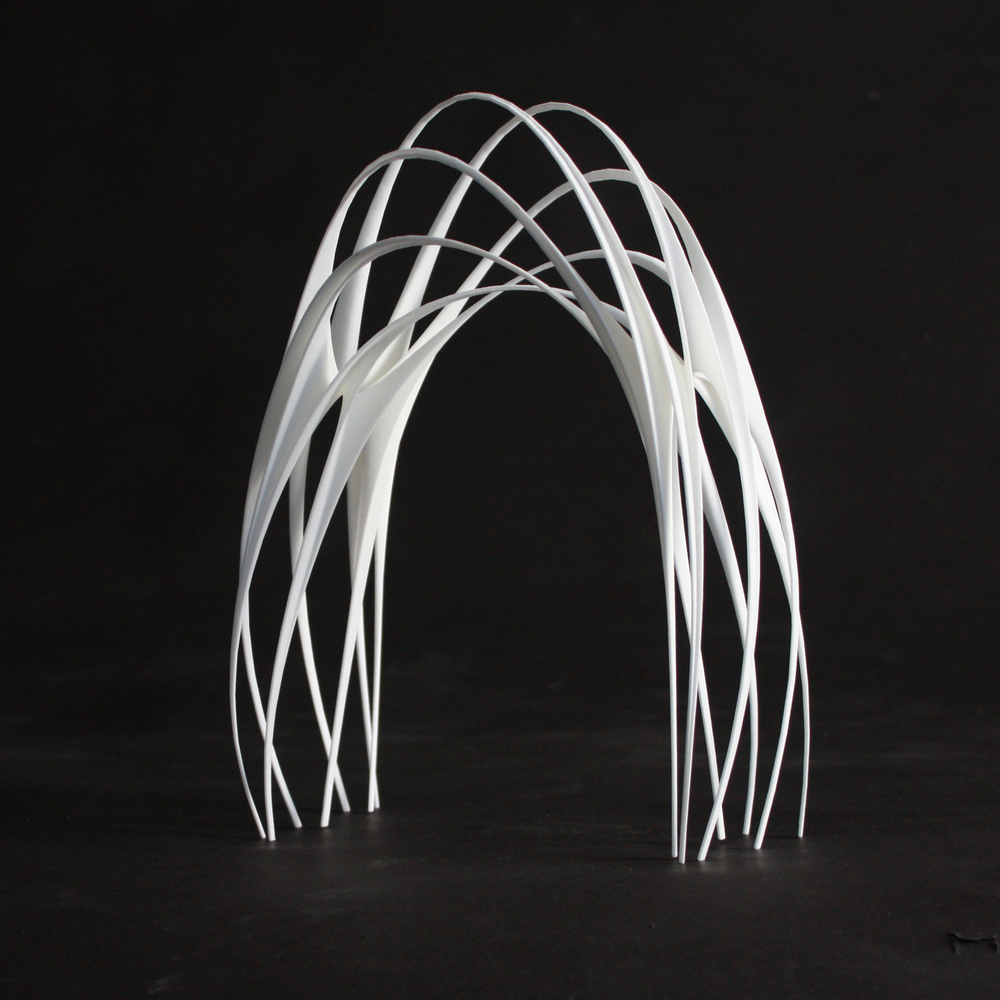 "The Arch, 2011, 3D Printed Nylon, 12""x4""x6"""