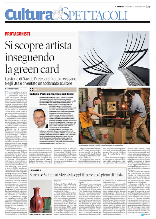Article on Cultura e spettacoli