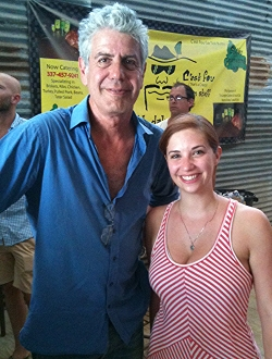 Meghann with Anthony Bourdain