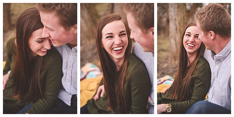The laughter never ended...the giggly, totally in-love kind.