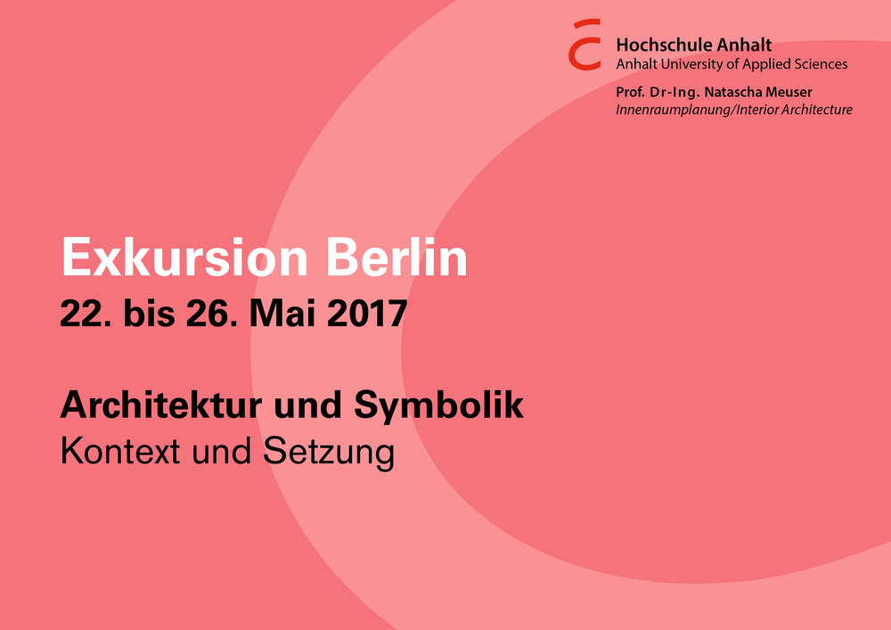 Programm, Stand 22. Mai 2017