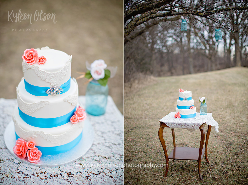 The beautiful cake made by Cold Spring Bakery had perfect spring colors.
