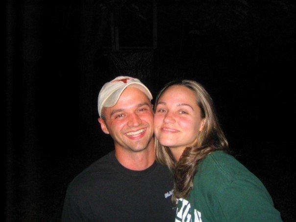 Enjoying a campfire in 2006