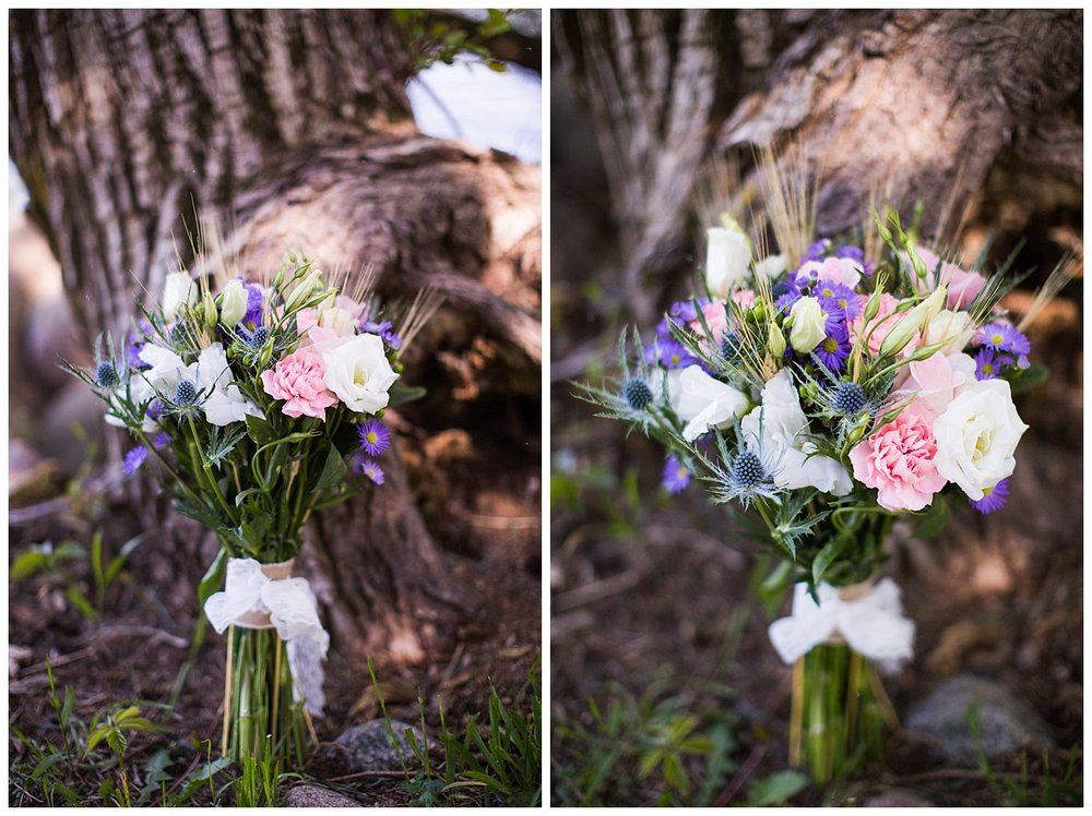 Angela made two bouquets for us. I LOVED them! She is amazing at what she does. Amazing.