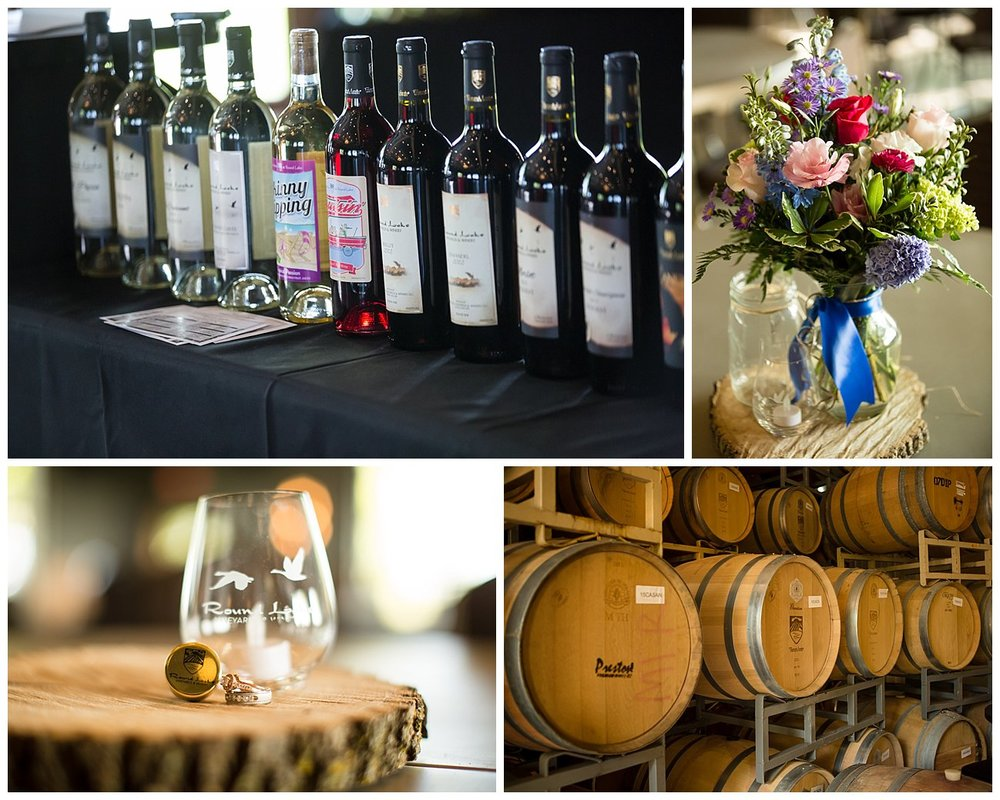 Round Lake Vineyard is an excellent venue. They have a banquet room that has huge garage doors to let the outside in, or closed to keep it warmer in cooler months. They have trees, water, you name it, it's there.