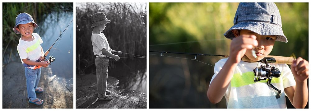 Mr. T usually gives me a hard time for smiles, but he was in his element and knows quite a bit about fishing!