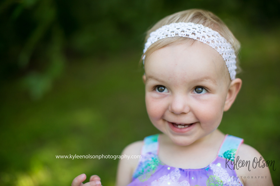 This little miss had her moments too, but with mom's help and my own knowledge of kids now, we were able to bring out her personality. It takes time and patience. July 2016