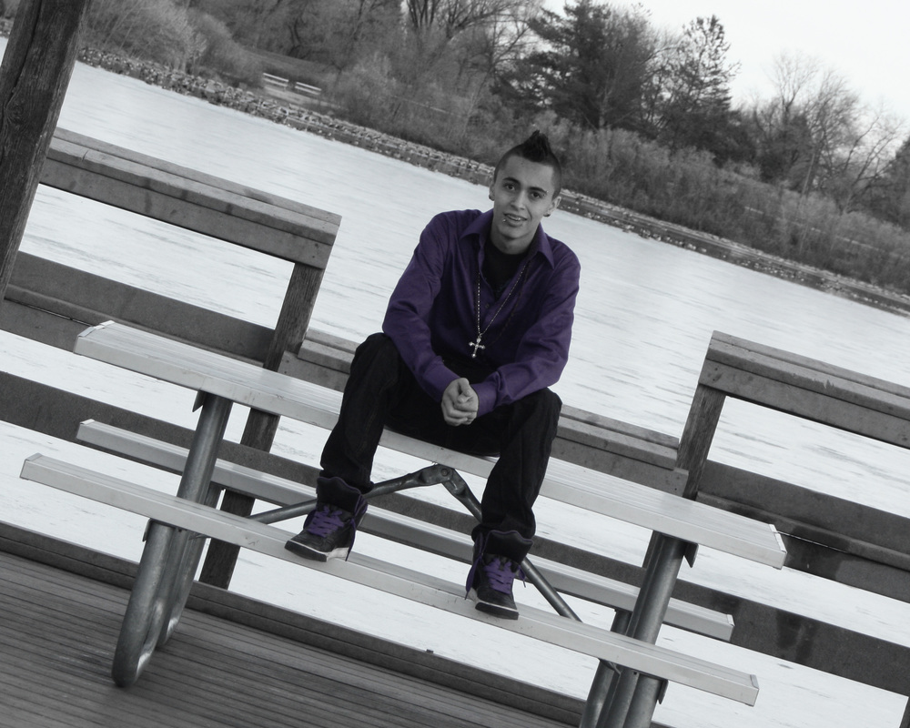 Oh no, selective color AND tilted camera. Yup, been there, did that. Nov. 2010