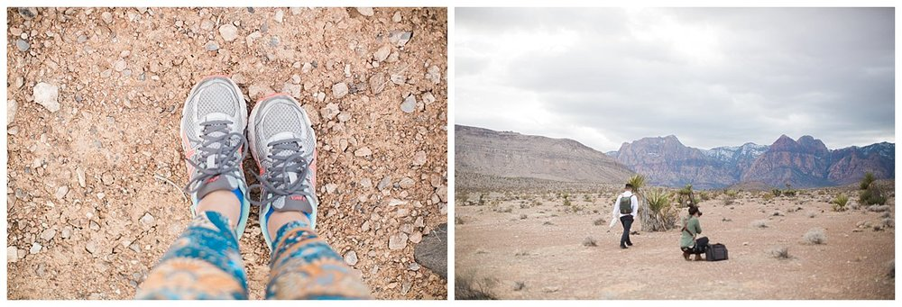 Because I had to get a photo of my feet on desert dirt. I don't get out much!!