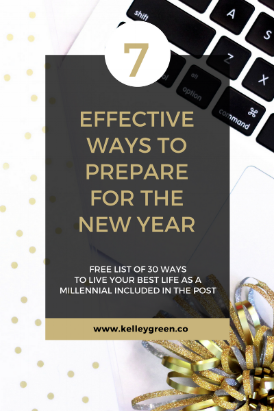7 Effective Ways To Prepare For The New Year blog post