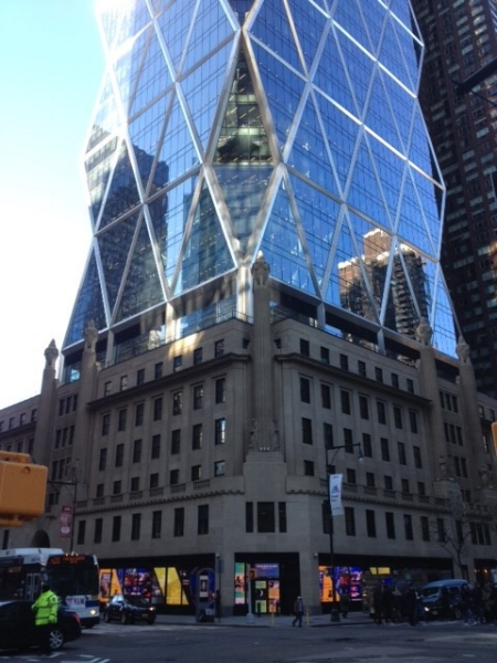 View of the Hearst Tower from Corner of 57th Street and Eighth Avenue