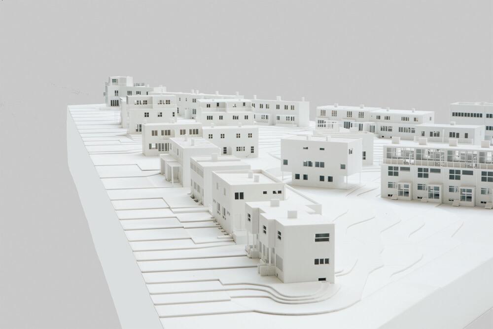 Modell av Werkbundsiedlung, i skala 1:100 från 2012.
