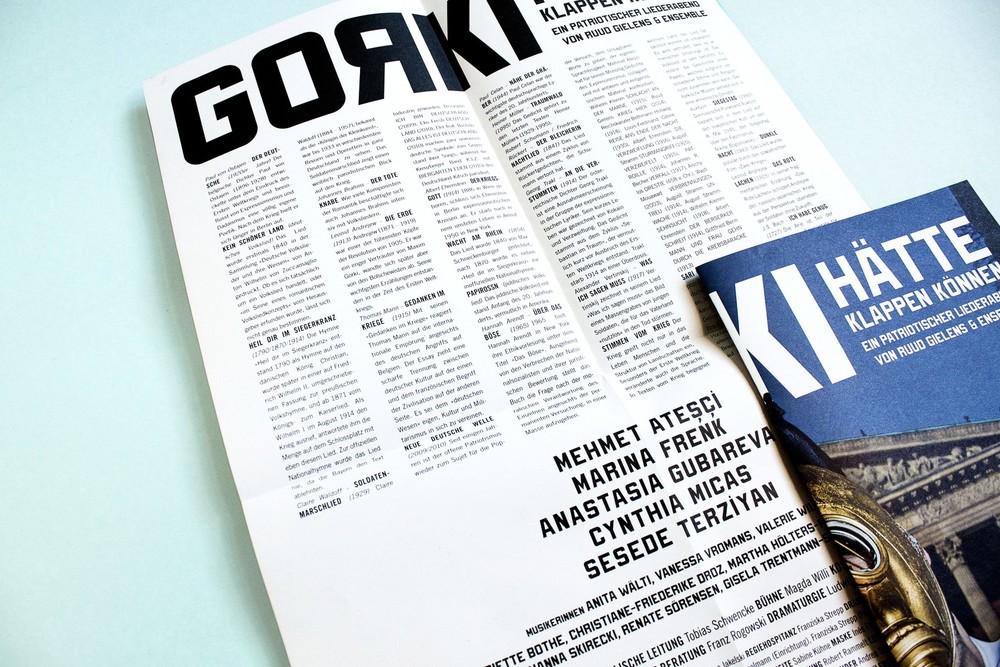 Programblad från Maxim Gorki, 2014.