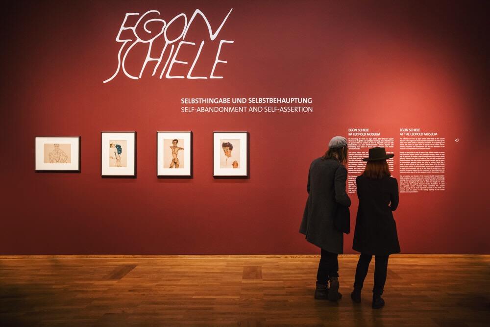 Den permanenta Egon Schiele-utställningen på Leopold Museum.