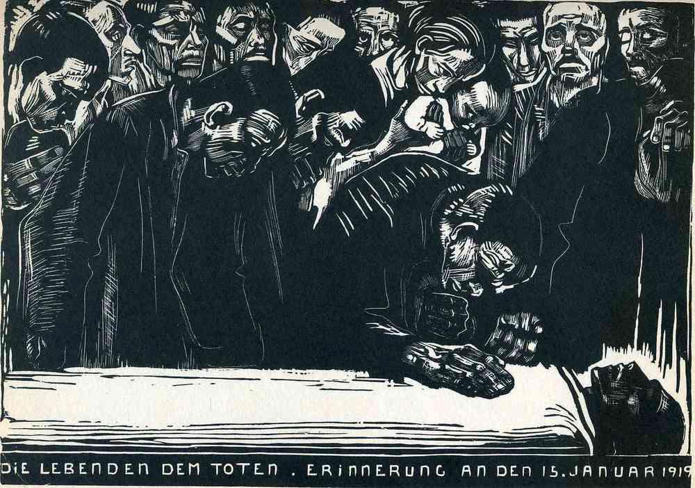 Memorial for Karl Liebknecht 1919