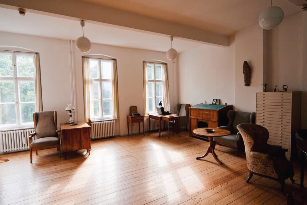 Brechts arbetsrum i lägenheten påChausseestraße 125. Foto: P.Lutz.