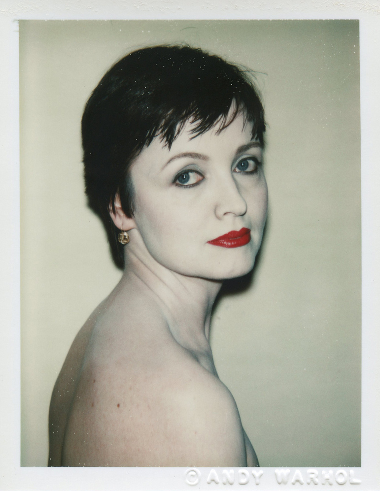 Polaroidporträtt av Erika Hoffmann-Koenige, fotat av Andy Warhol 1982.