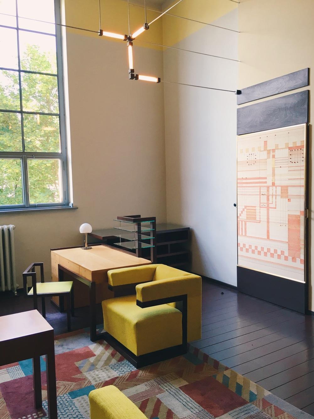Walter Gropius kontor på Bauhausskolan i Weimar, sommaren 2016.