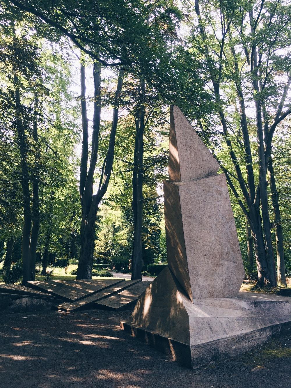 The Denkmal der Märzgefallenen, sommaren 2016.