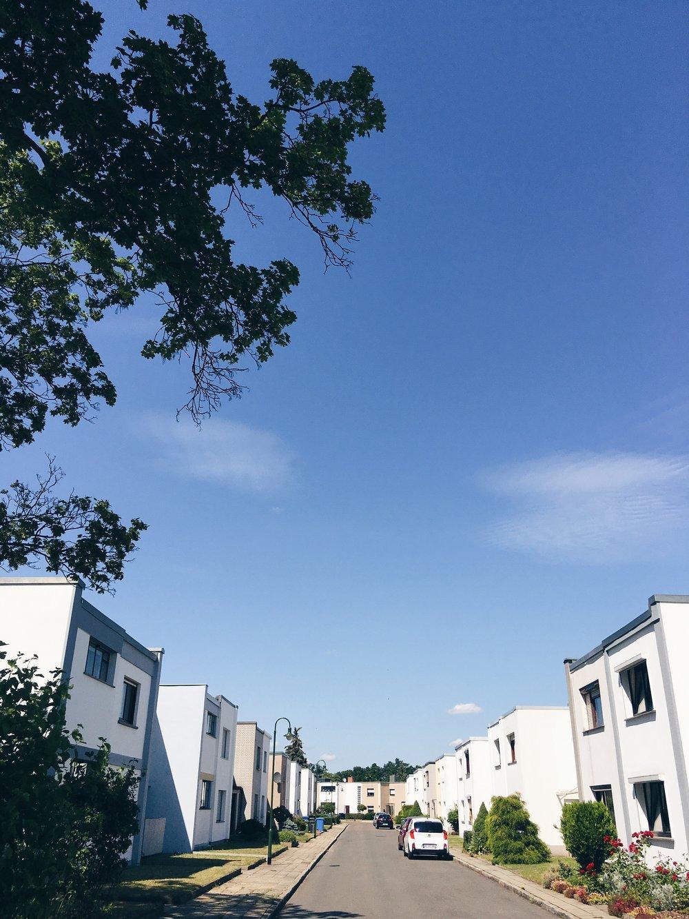 Dessau-Törten-Estate, sommaren 2016.