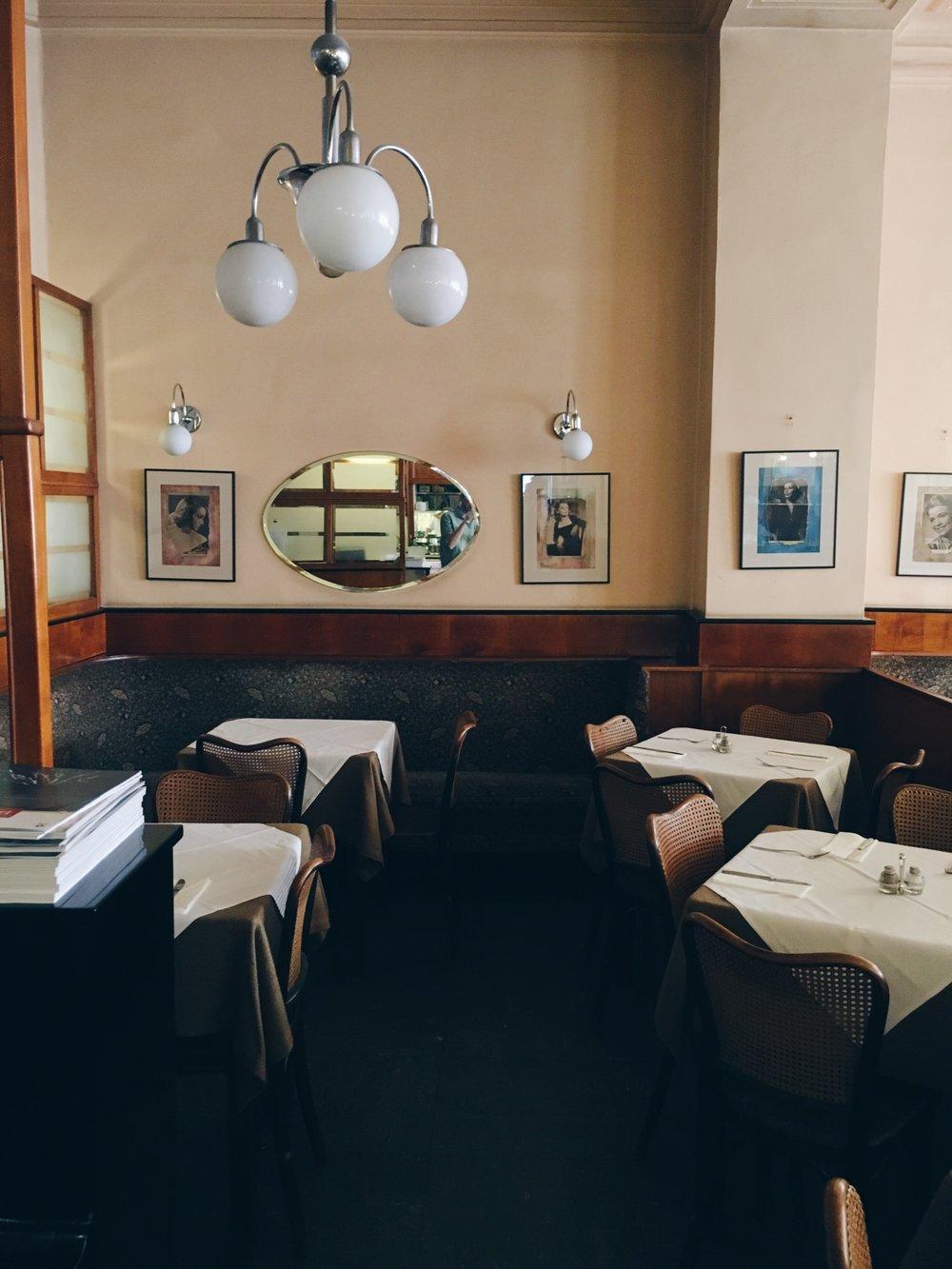 Café Bräunerhof, sommaren 2016.